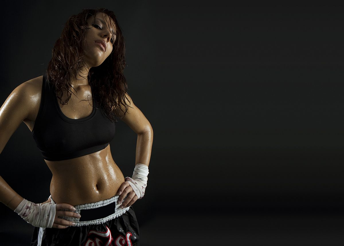 Sexy Brunette Fitness