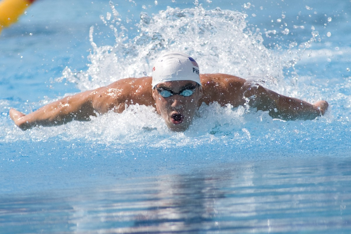 Jul 31 2009; Rome Italy; Michael Phelps (USA) competing in quali