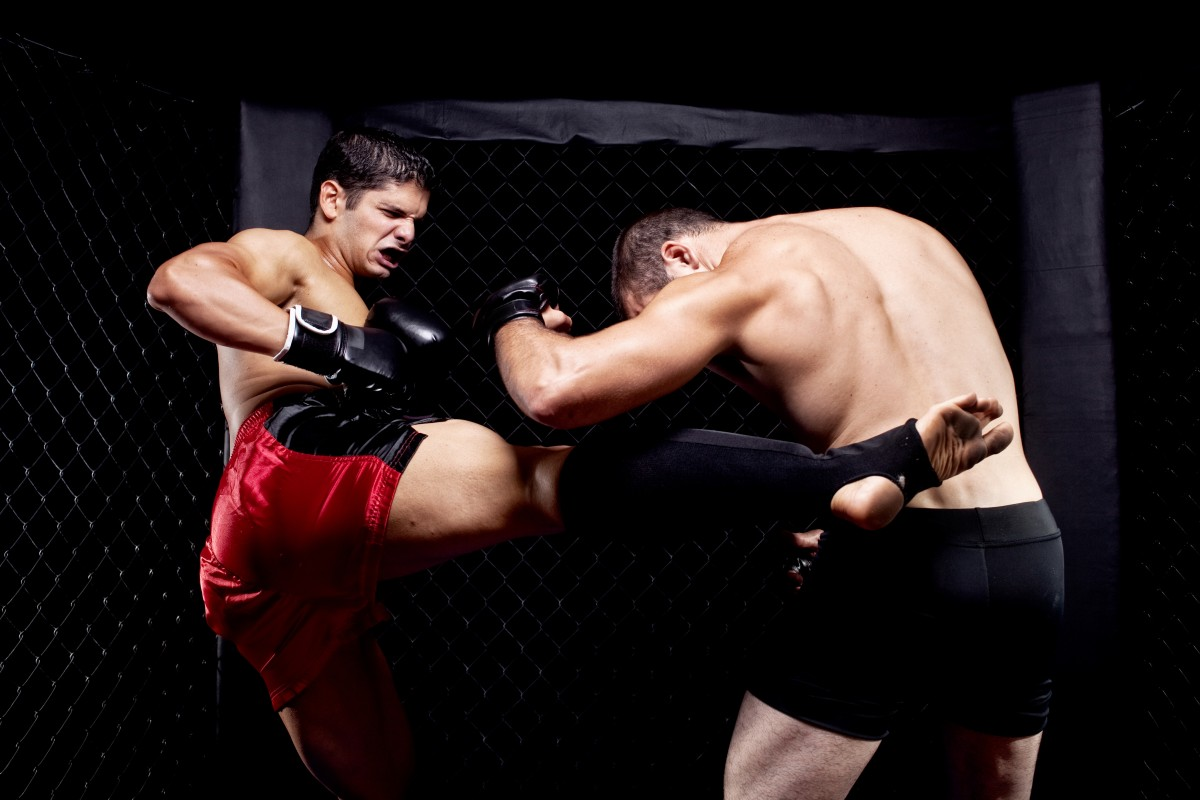 Mixed Martial Artists Fighting – Kicking