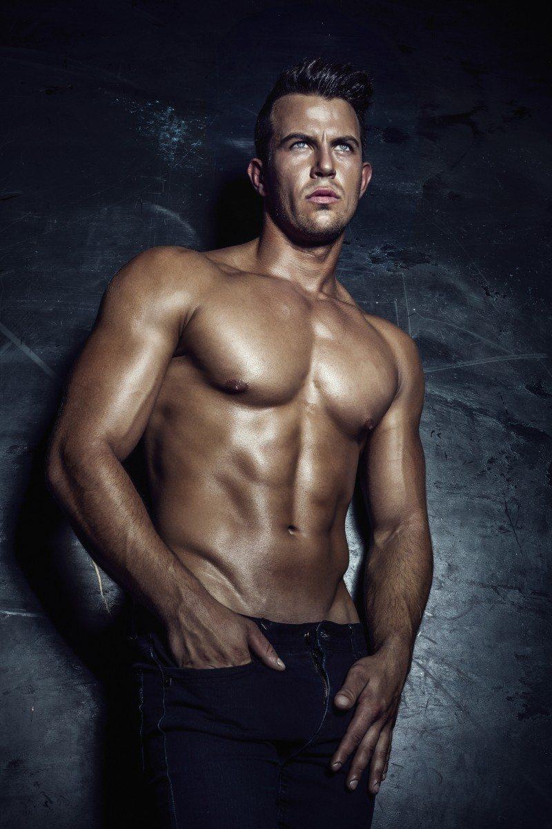 Sexy Handsome Man Posing.